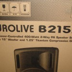 Original box the Behringer Eurolive B215A came in